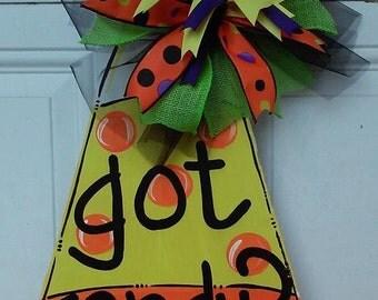 Candy Corn Door Hanger by ReLoved Treasure, halloween door hanger, fall, candy, hand painted door hanger