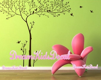 Wall Decal tree wall decal nursery wall decal baby wall decal winter tree wall decal children baby decal-Birds sitting on Trees Decal-DK117