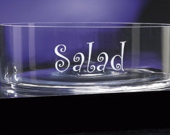 12- inch Engraved bowl Personalized salad Bowl Serving Bowl Engraved Serving Bowl Monogrammed Salad bowl