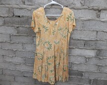 Vintage Romper 1990s 80s Sunflowers Provence French Inspired sz fits Medium Summer Chic Sun Pretty Playsuit Wide Leg Onesie One Piece