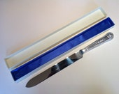 1960s Silver Plated Wedding Cake/Bread Knife.