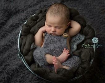Newborn Knit Overalls