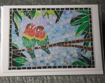 Love Birds Greeting Card, Blank Inside