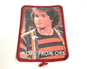 Vintage 70s Robin Williams Mork from Ork Mork and Mindy Photo Sew On Patch