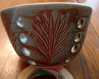 Green and Brown Orchid Pot