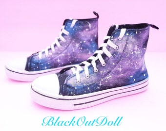 Graffiti Galaxy Space Harajuku Kawaii Shooting Star High Tops Sneakers
