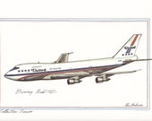 Boeing Model 747- by Roy Andersen 9x12 Lithograph  FREE SHIPPING