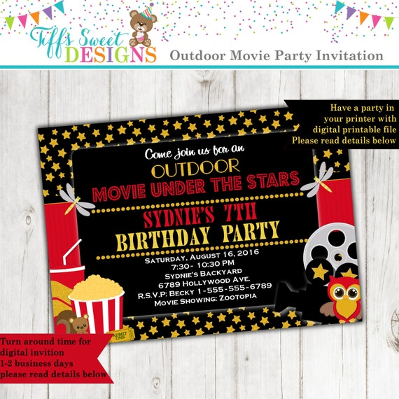 Under the stars outdoor movie party movie birthday party il570xn filmwisefo Choice Image