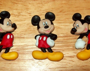 Disney Mickey Mouse Buttons for Sewing, Scrapbook, or Cards, Set of 3
