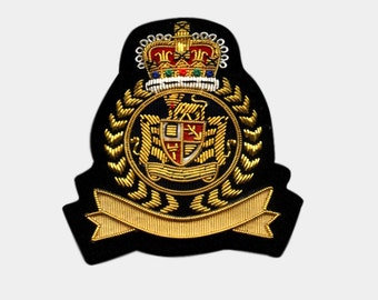 Bullion Crests - Hand Embroidered Blazer Patches / Bullion wire badges