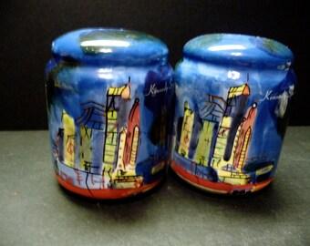 50% OFF -Sky bright blue Ceramic S & P's of he Kennedy Space Center