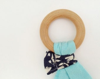 Organic Teether, Organic Baby Toy, Organic Teething Ring, Organic Baby, Natural Baby Teether, Natural Toy, Maple and Organic Cotton