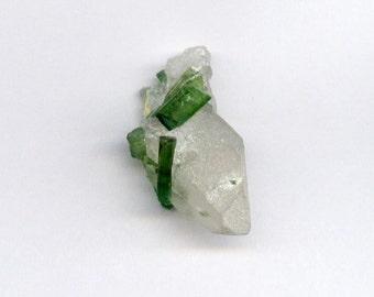 14.1 ct. Beautiful Green Tourmaline Bunch Specimen with Quartz