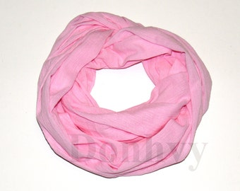 Girl's Infinity Scarf. Child  Pink Scarf.