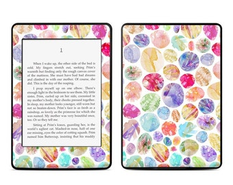 Amazon Kindle Skin - Watercolor Dots by Stephanie Corfee Artworks - Sticker Decal - Fits Paperwhite, Fire, Voyage, Touch, Oasis