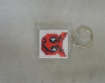 Counted Cross Stitch Key ring Kit Emoji  Devil