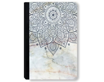 For Galaxy Tab Case, for iPad Air Case, universal tablet case, for kindle fire case, for ipad mini case, for Huawei case - Marble Mandala