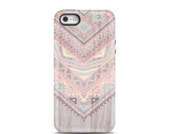 Aztec iPhone 7 case, iPhone 7 case, iPhone 7 Plus case, iPhone 6s case, iPhone 6 case, iPhone 5s case, iPhone 5 case - Wood