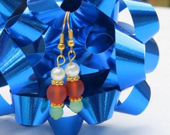 Tangerine Earrings Fall Colored Earrings Small Dangle Earrings Woman's Jewelry