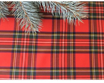 Red Plaid Table Runner,  Holiday Table runner, Holiday Tartan Wedding table runner,  2016 collection