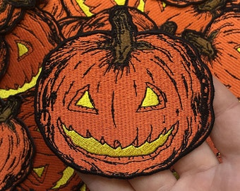 Embroidered Pumpkin Patch