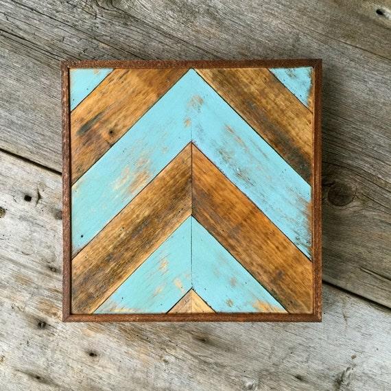 Chevron Wood Wall Decor : Items similar to chevron wall decor salvaged wood