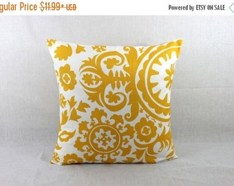 SALE ENDS SOON Yellow Sofa Pillow - Yellow Couch Pillow Cover - Decorative Sofa Pillows 0017