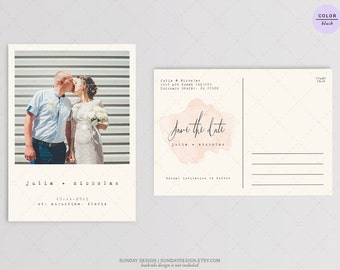 Rustic Typewriter Save the Date  - DIY Printable Digital File, Invitation Card, RSVP -  Watercolor