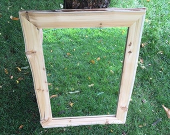 Natural Edge Cedar Mirror - Rustic Mirror - Bathroom Mirror - Bedroom Mirror - Hallway Mirror