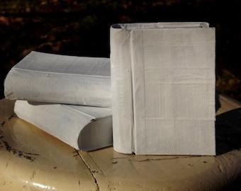 Set of 3 Handmade Paper Mache Mini Book Boxes