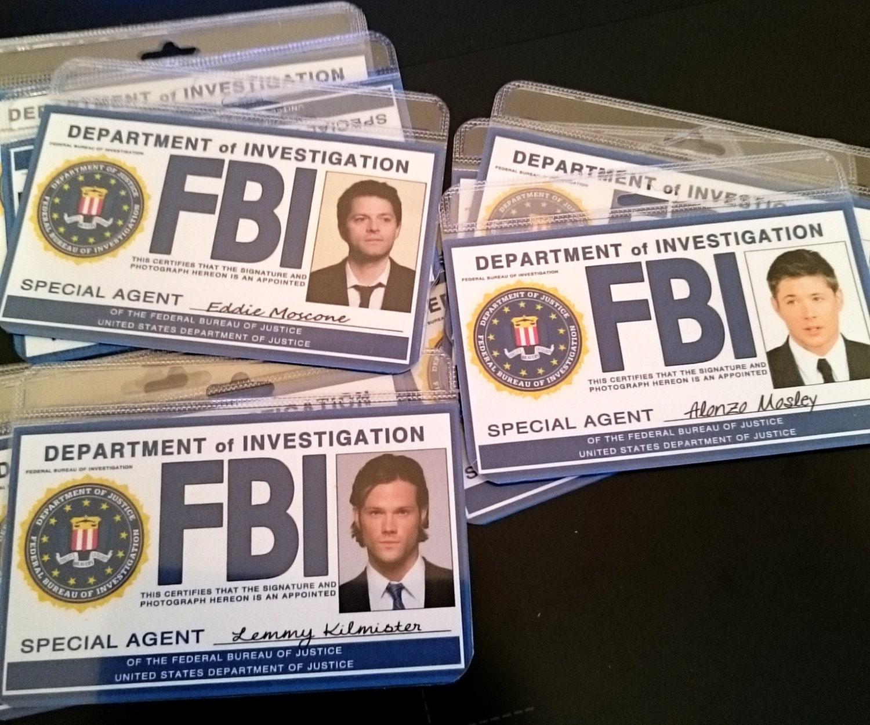 Supernatural Fbi Badge