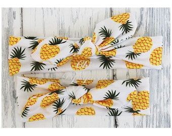 Pineapple Headband, Baby Headwrap, Baby Top Knot Headband, Baby Turban, Headband, Girls Headwrap, Knot Headband, Toddler Headband, top knot