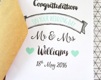Personalised Congratulations on Your Wedding Day Card - C46