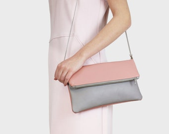 Foldover bag Finja - grey | Rosa