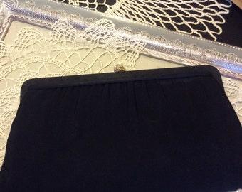 Evening Bag-Clutch or Purse Harry Levine Black Satin
