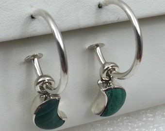 Vintage hoop and dangle earrings.