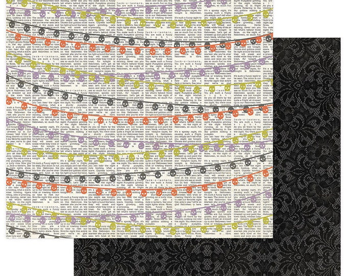 2 Sheets of Photo Play BOOTIFUL 12x12 Halloween Scrapbook Paper - Banners