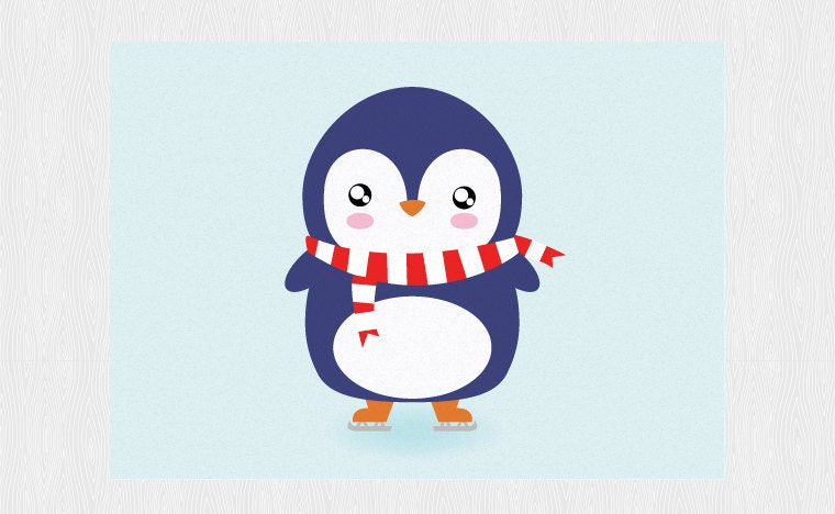 Penguin Birthday Card Funny Card Greeting Card With Cute Penguin