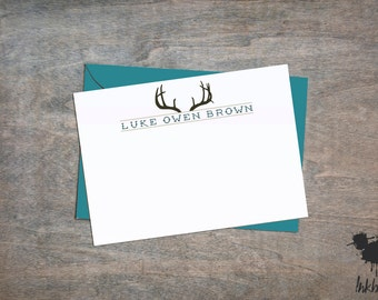 Deer Stationery (10 Flat Notecards)