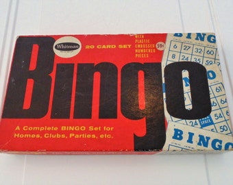 Vintage Bingo Game By Whitman Bingo Cards