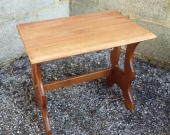 Solid Oak Coffee Table Bedside Table Stripped Top