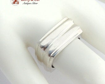 Modern Square Ring Band Sterling Silver