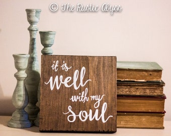 It Is Well With My Soul, Scripture Wood Sign, Bible Verse Wall Art