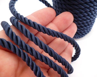 6 mm Dark Blue Braided Fabric Cord_PP01244557423_Navy blue BRAIDED Cord_of 6 mm_ 8 meters_26 FT
