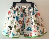 Animal skirt for 46yrs cotton skirt for girls toddlers alphabet skirt