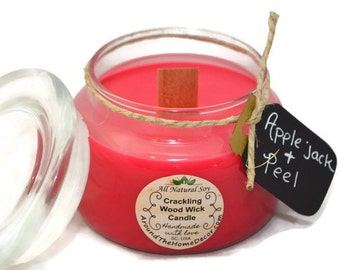 8 oz. All Natural Vegan Soy Woodwick or Cotton Wick Candle. Pick a Scent. 90+ fragrances. Cruelty-Free
