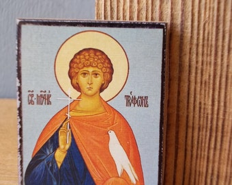 Pocket Charm / Russian Ortodox church Saint / Saints charm / Made in USSR / Pocket Guard