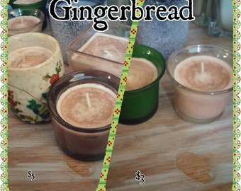 Gingerbread scented soy votive candle