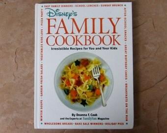 Disney's Family Cookbook, 1996 Walt Disney Company Family Cookbook, Vintage Cookbook