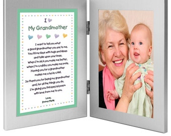 birthday or mothers day gift for grandmother from grandchild sweet poem from grandson or granddaughter add photo 70 233